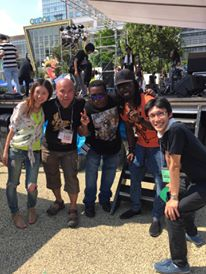 Backstage at Sumida Jazz fest 2015