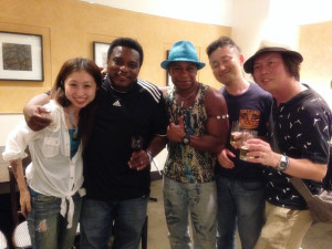 After party with my band, Sumida Jazz fest 2014