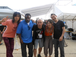 Backstage at Sumida Jazz fest 2012
