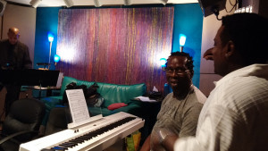 Going over the arrangements with Kevin Toney and Fred Clark